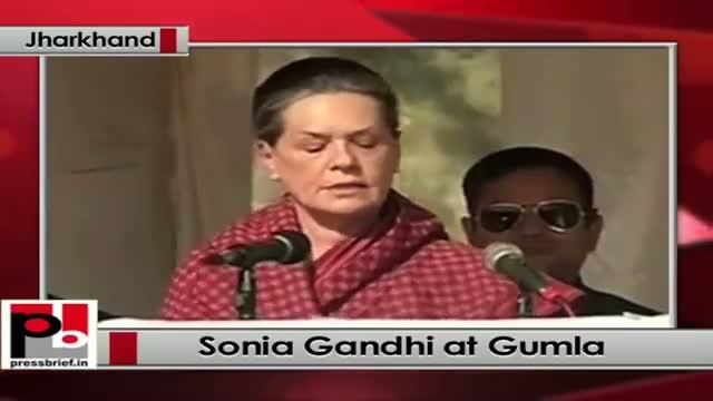 Jharkhand polls: At Gumla, Sonia Gandhi targets Modi government, BJP