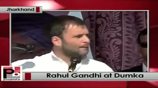 At Dumka in Jharkhand, Rahul Gandhi lashes out at Modi