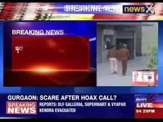 Bomb scare in three areas of Gurgaon Video