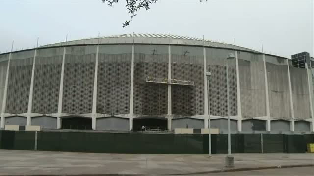 Cleaning Begins for Famed Houston Astrodome Video