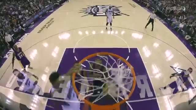 NBA: Rudy Gay Elevates in Traffic for the Monster Jam