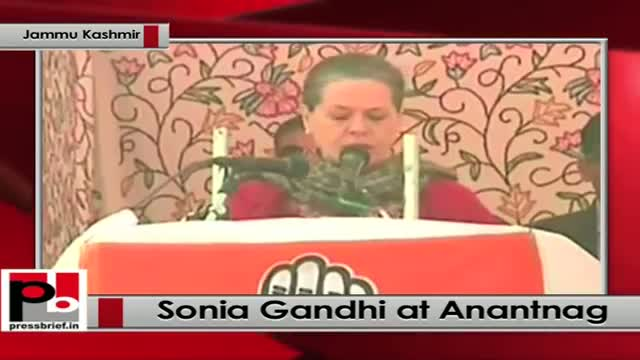 J&K polls - At Anantnag, Sonia Gandhi lashes out at Modi for making false promises