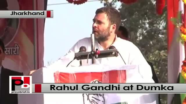 Jharkhand polls - Rahul Gandhi targets Modi during a rally in Dumka