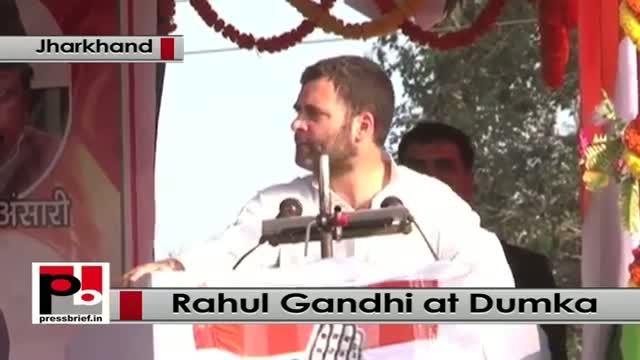 Jharkhand polls: Rahul Gandhi takes on PM Modi at a Congress rally in Dumka