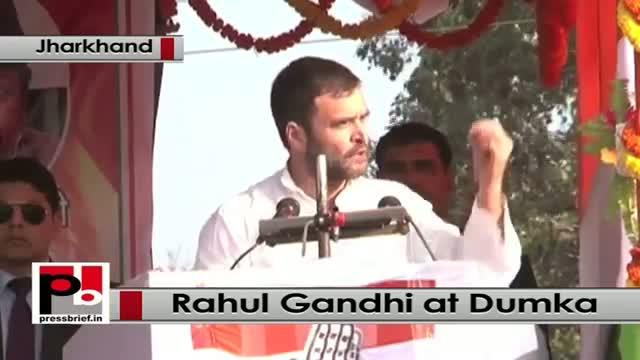 Jharkhand polls: Rahul Gandhi attacks BJP, Modi govt at a rally in Dumka