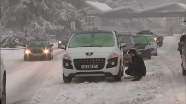 Snowstorm Hits French Alps Video