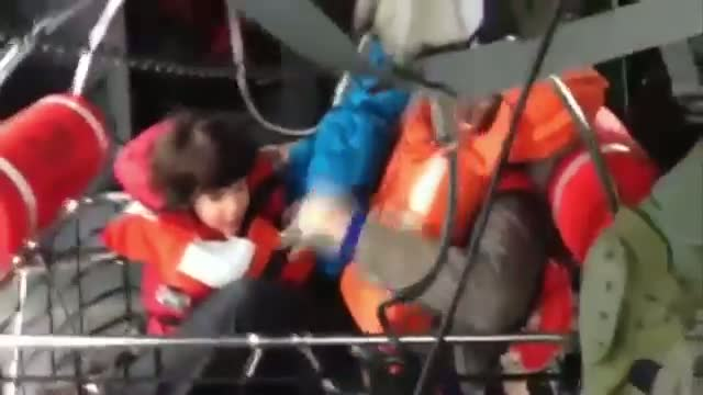 Crews Face Wind, Waves During Ferry Rescue Video