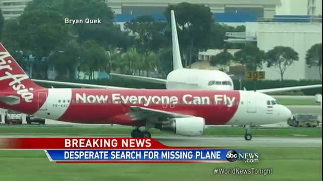 Desperate Search for Missing Air Asia Flight 8501 Video