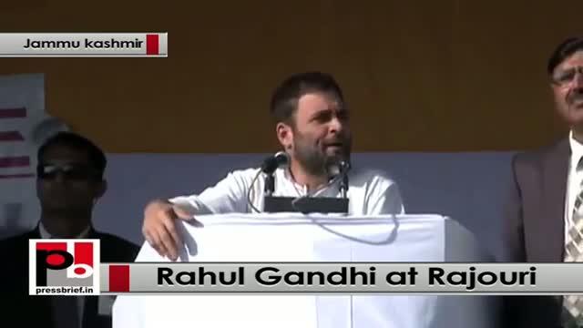 J&K polls - At Rajouri, Rahul Gandhi takes on Modi, BJP
