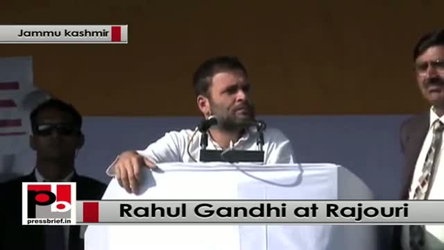 J&K polls - Rahul Gandhi attacks PM Modi, NDA govt at Rajouri rally