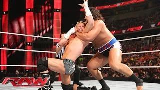 Dolph Ziggler vs. Rusev – Champion vs. Champion Match: WWE Raw, December 29, 2014