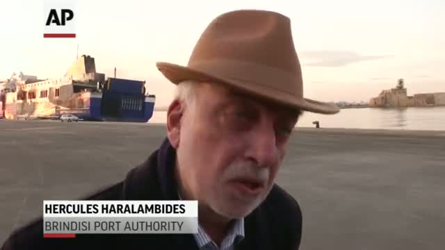 Greek Ferry Search Delayed by Heat, Smoke Video