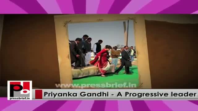 Young and charismatic Priyanka Gandhi - inspiring like Indira Gandhi