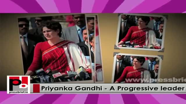 Young Priyanka Gandhi Vadra - a leader who has a special ability to connect with people