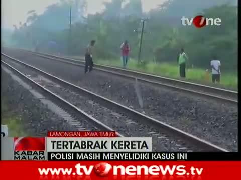 Berita Terbaru Seorang Pria Paruh Baya di Lamongan Tewas Tertabrak Kereta 6 Januari 2015
