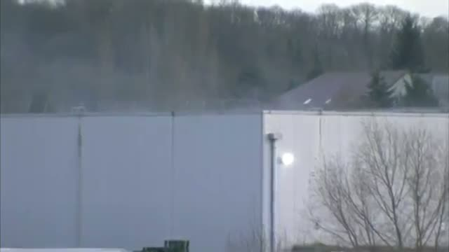 Explosion, Smoke During French Police Raid Video