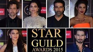 Star Guild Awards 2015   RED CARPET   VIDEO   Priyanka Chopra, Alia Bhatt, Deepika Padukone