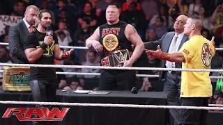 Royal Rumble WWE World Heavyweight Championship Contract Signing: WWE Raw, January 12, 2015