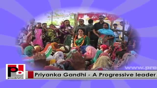 Charming Congress campaigner Priyanka Gandhi Vadra - charismatic campaigner