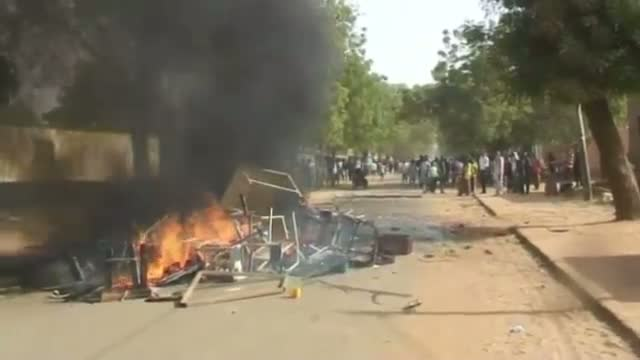 Protests Against Charlie Hebdo in Niger Video