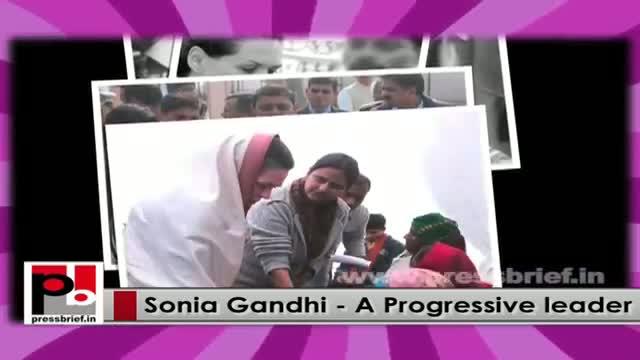 Sonia Gandhi - a genuine mass leader whose main focus is people's welfare