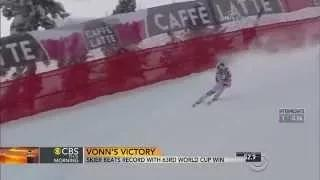 Lindsey Vonn Breaks World Cup Wins Record (FULL VIDEO) Lindsey Vonn Wins 63rd Title