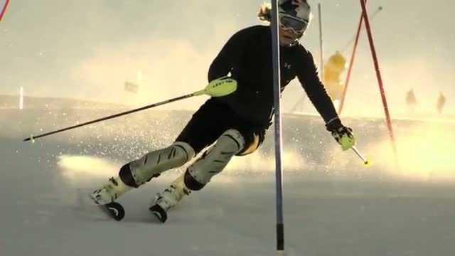 Lindsey Vonn Slow Motion Slalom - Red Bull Moments