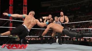John Cena vs. Seth Rollins, Big Show & Kane - 3-on-1 Handicap Match: WWE Raw, January 19, 2015