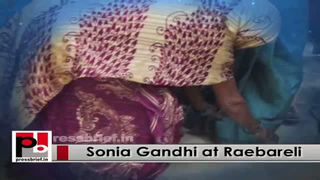 Sonia Gandhi visits Raebareli, seeks UP help to revive Indira project in Rae Bareli