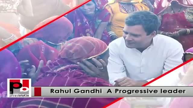 Rahul Gandhi leads protest against Modi