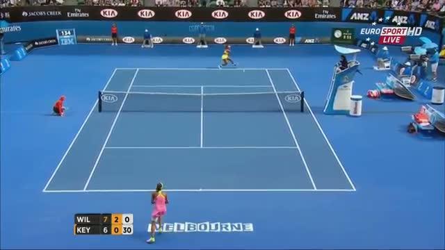 Serena Williams vs Madison Keys - Amazing Point - Australian Open 2015 (SF)