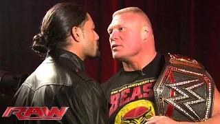 WWE: Roman Reigns and Brock Lesnar meet face to face: January 26, 2015