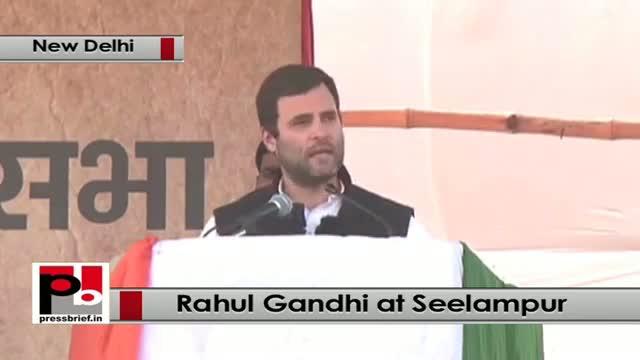 Delhi polls : Rahul Gandhi addresses Congress rally, takes on BJP, AAP