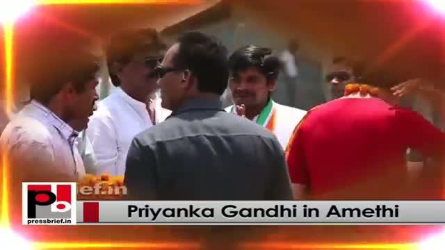 Inspiring Congress campaigner Priyanka Gandhi Vadra