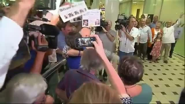 Emotional Return for Freed Journalist Video
