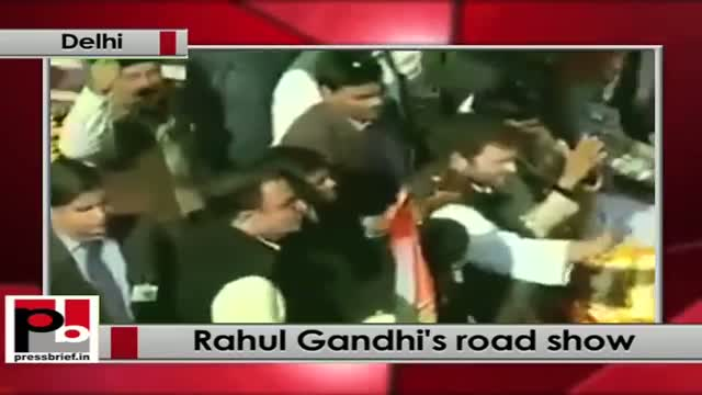 Delhi polls - Rahul Gandhi holds roadshow at Sultanpur