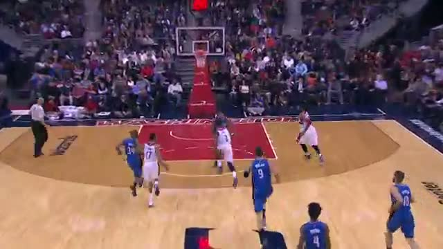 NBA: John Wall Finds Nene with a Fabulous Behind the Back Pass