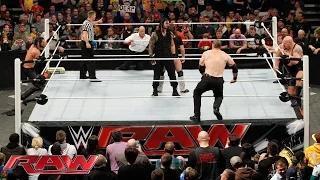 Daniel Bryan & Roman Reigns vs. Seth Rollins, Big Show, Kane & J&J Security: WWE Raw, February 9, 2015