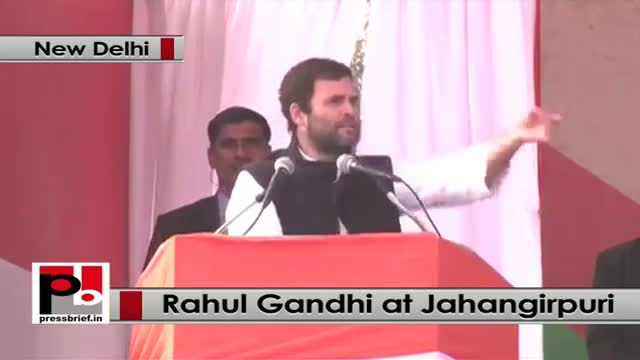 Delhi polls - Rahul Gandhi addresses rally at Jahangirpuri, hits out at BJP, AAP