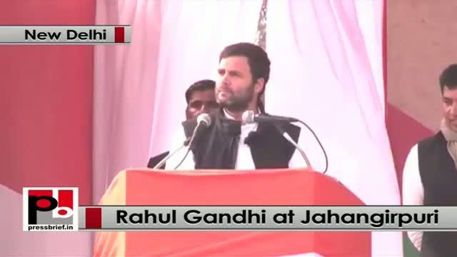 Delhi polls - Rahul Gandhi slams BJP, AAP at a rally in Jahangirpuri