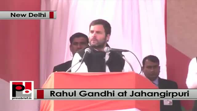 Delhi polls - Rahul Gandhi targets BJP, AAP at a rally in Jahangirpuri