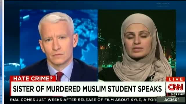 Suzanne Barakat talking to Anderson Cooper about Chapel Hill Shooting