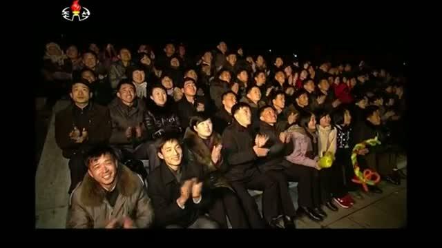 Fireworks Mark Kim Jong Il's Birth