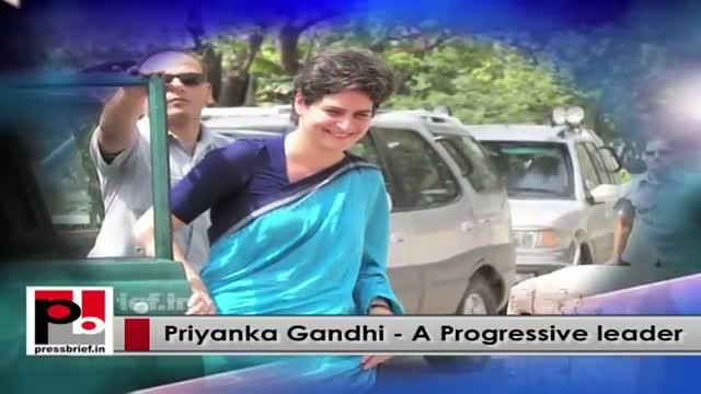 Priyanka Gandhi - energetic and charismatic person; resembles Indira Gandhi