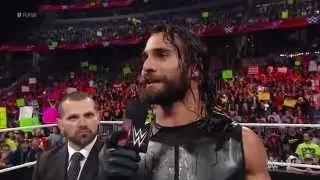 """Seth Rollins calls out """"The Daily Show"""" host Jon Stewart: WWE Raw, February 16, 2015"""
