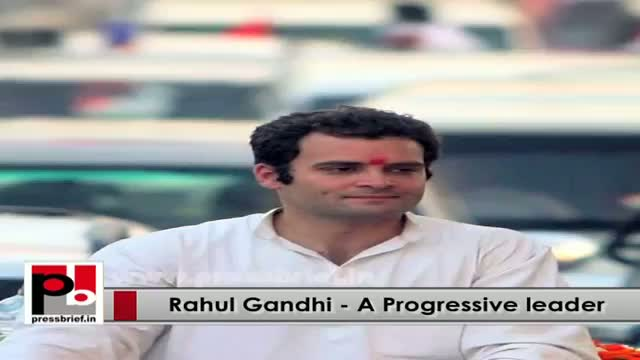 Young Rahul Gandhi - a strong leader who shows his courage to lead the party from the front