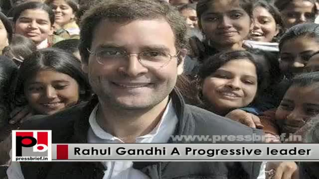 Rahul Gandhi - a sincere and honest young mass leader with modern vision and innovative ideas