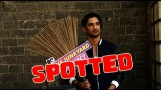 Sushant Singh Rajput SPOTTED With Broom!