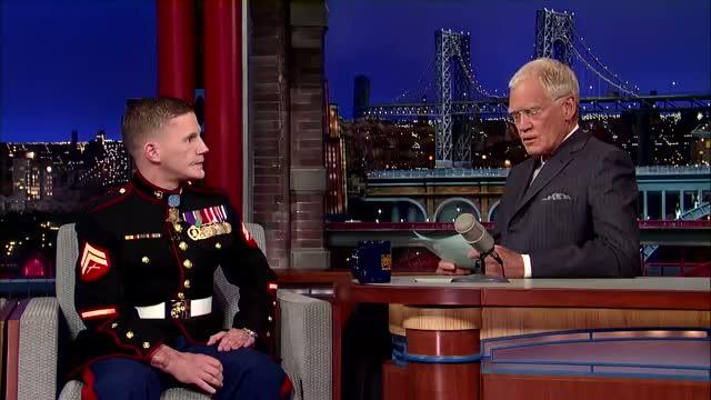 David Letterman - Medal of Honor Recipient, Cpl. Kyle Carpenter Describes His Injuries