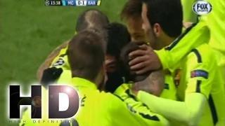 Gol de Luis Suarez Manchester city vs Barcelona 1-2 champions league 24/02/2015